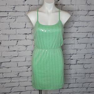 Mint Sequin Racer Back Dress